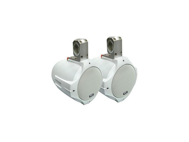 """Pyle 8"""" 300 Watt 2-Way White Wake Board Marine Speaker"""