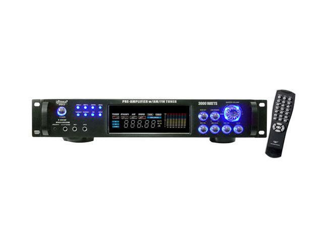 PylePro P3001AT 3,000 Watt Hybrid Home Stereo Receiver Amplifier with AM/FM Tuner - Audio Inputs & Outputs