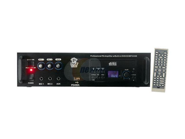 PYLE PD450A Professional PA Amplifier w/Bulit In DVD/CD/MP3/USB/70v Output