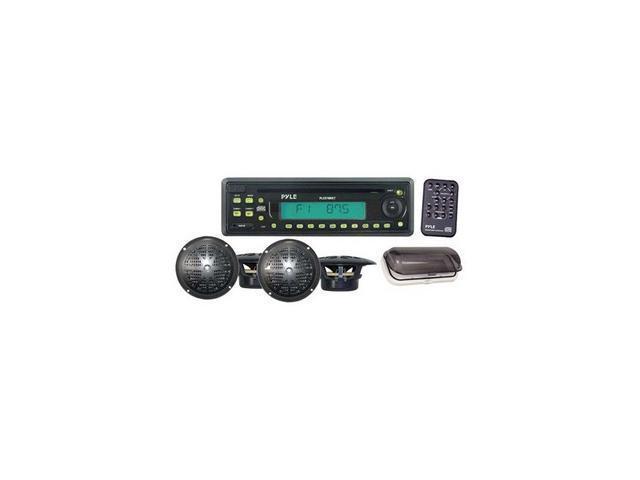 """Pyle Waterproof Marine CD Receiver W/ 4 x 5.25"""" Speakers"""
