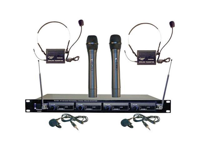 PylePro PDWM4300 4 Mic VHF Wireless Rack Mount Microphone System