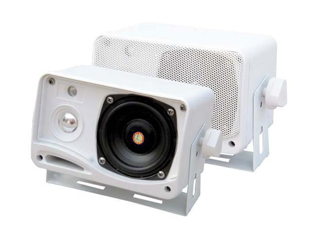 "Pyle PLMR24 3.5"" 200 Watt 3-Way Weather Proof Mini Box Speaker System (White)"