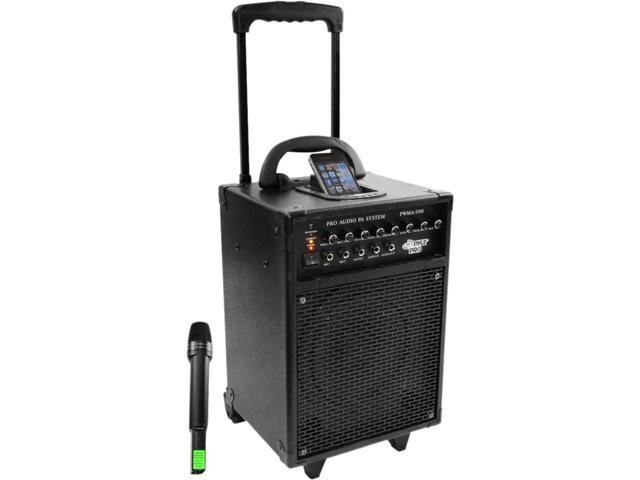 PylePro PWMA930I 600 Watt VHF Wireless Portable PA System/Echo W/Ipod Dock