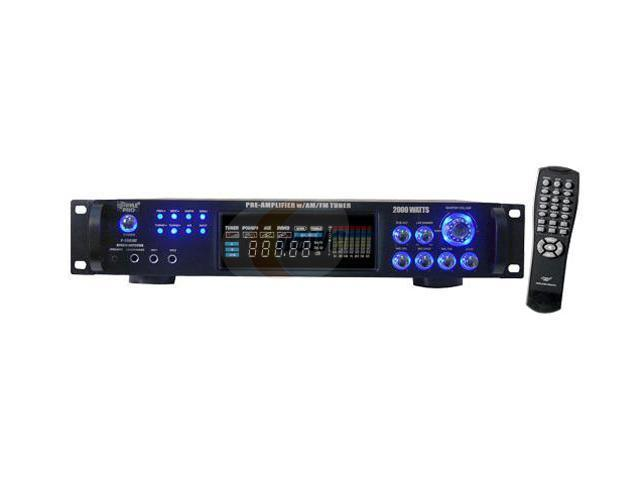 PylePro P2001AT 2,000 Watt Hybrid Hybrid Home Stereo Receiver Amplifier with AM/FM Tuner - Audio Inputs & Outputs