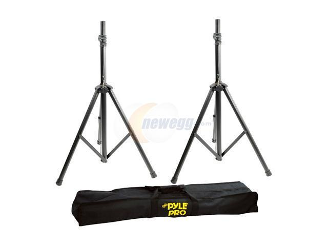 PylePro PSTK103 Heavy-Duty Aluminum Anodizing Dual Speaker Stand with Traveling Bag Kit