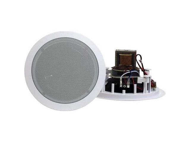 PYLE PDIC80T 8'' Two-Way In-Ceiling Speakers w/70V Transformer a Pair