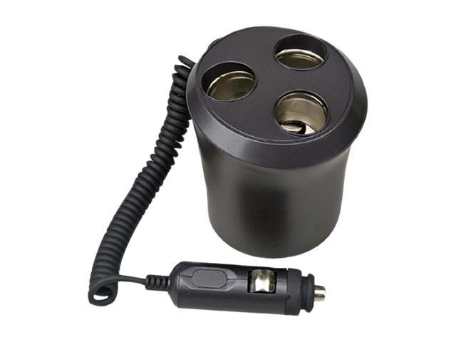 Plug In Car 1 TO 3 Cigarette Lighter Multiplier Cupholder Design