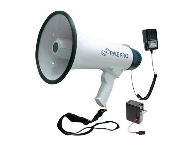 PYLE PMP45R White / Green 40W Pro Dynamic Megaphone