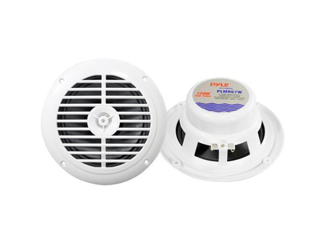 """Pyle PLMR67W 6.5"""" Waterproof Marine Speakers, Pair, White"""
