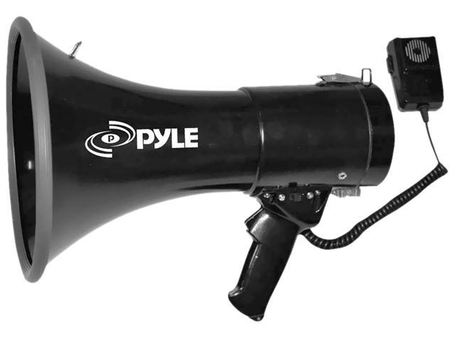 PYLE PMP53IN Black 50 Watts Professional Piezo Dynamic Megaphone w/3.5mm Aux-In For Digital Music/iPod