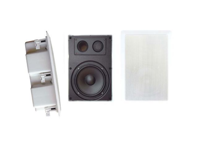 PYLE PDIW67 6.5'' Two Way In Wall Enclosed Speaker System w/ Directional Tweeter (Pair)