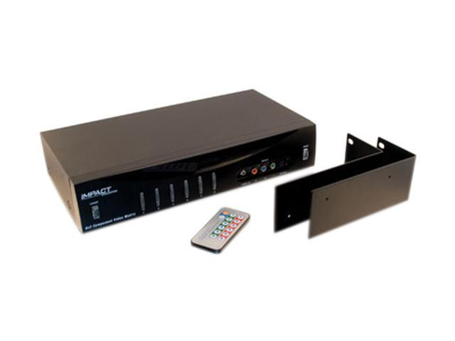 C2G 40697 6x2 Component Video + Stereo Audio + TOSLINK Digital Audio Matrix Selector Switch