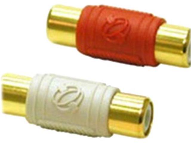 2-Piece RCA Dual Channel Audio Coupler