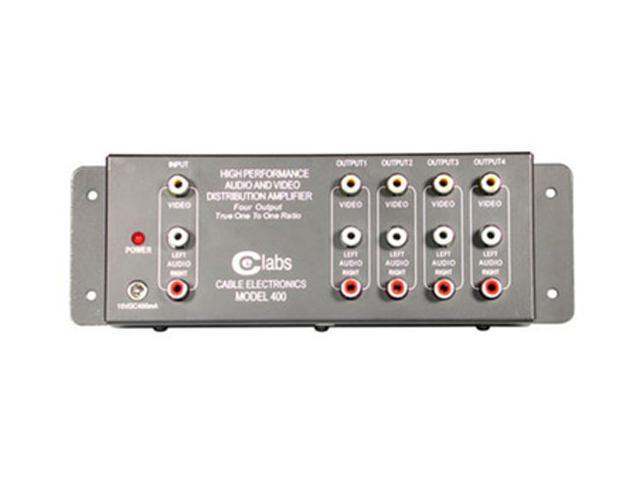 AV400 4-Output RCA Audio/Video Distribution Amplifier