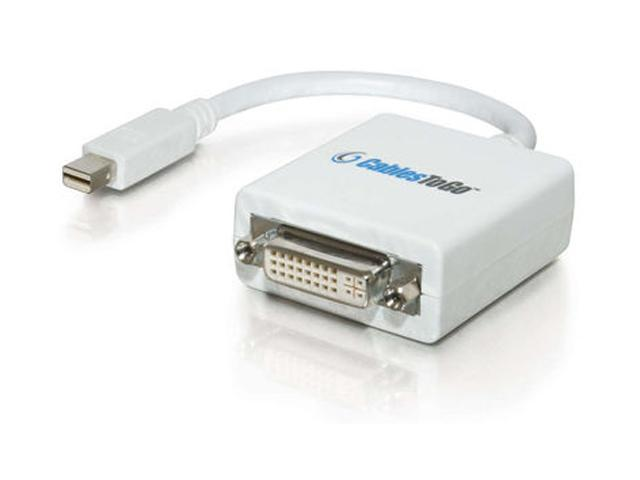 C2G 54162 8.5in Mac-Compatible Mini DisplayPort 1.1 Male to DVI-D Female Adapter Cable