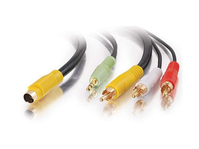 C2G 27991 6 ft. Value Series S-Video/Audio to RCA Adapter Cable