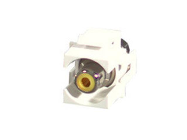 C2G 28745 Snap-In Yellow RCA F/F Keystone Insert Module - White