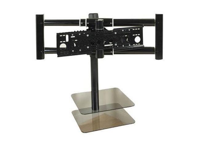 avf nxl4502pb black 36 70 flat panel tv corner mount with av shelf. Black Bedroom Furniture Sets. Home Design Ideas