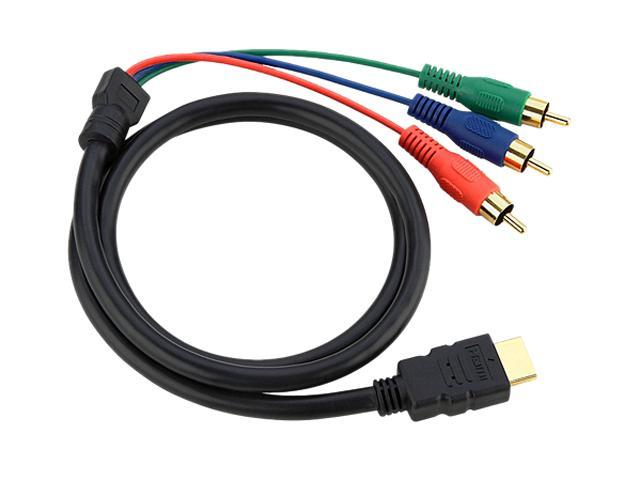 Insten 675752 3 ft. Black HDMI to 3 RCA Cable