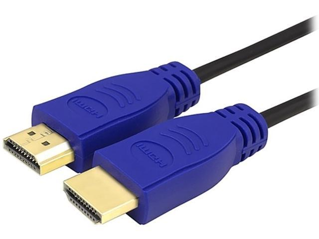 Insten 738996 3 ft. Blue High Speed Male to Male HDMI Cable with Ethernet M-M