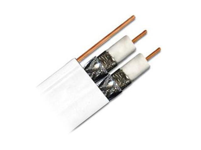 DIRECTV PVCX3W 500 Ft RG6 Dual Coax Cable w/ Messenger - White