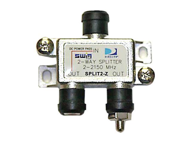DIRECTV SPLIT2 SWM 2 Way Splitter 2-2150 Mhz 1 Port Power Passing With Weather Boot