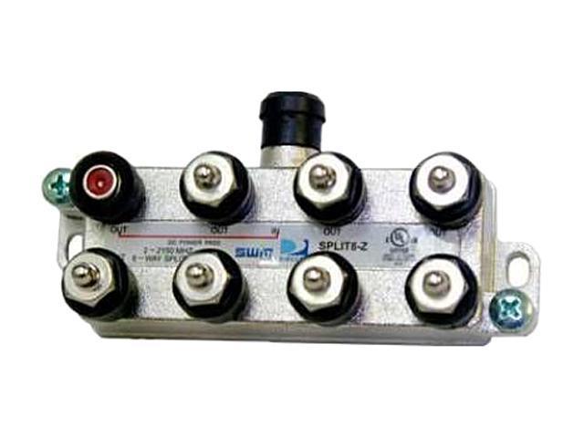 DIRECTV SPLIT8 Swm 8 Way Splitter 2-2150 Mhz 1 Port Power Passing Includes Weather Seal & Terminators
