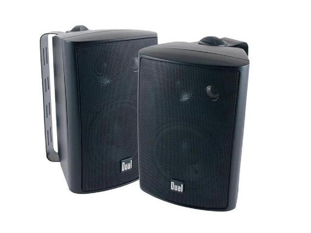 "Dual LU43PB 4"" Indoor/Outdoor 3-Way Dynamic Loudspeakers (Black) Pair"