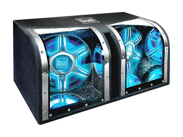 """Dual Dual 12"""" 1100W Bandpass Subwoofer System"""