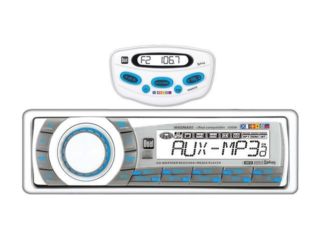 Dual In-Dash Marine CD Receiver with MWR30 Wired Remote Control