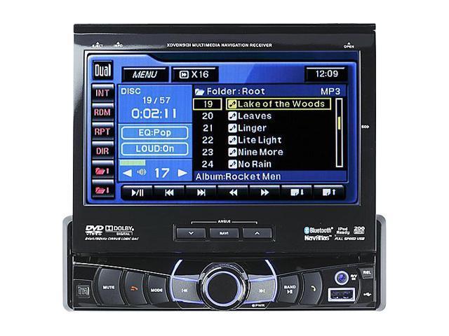 "Dual In-Dash Navigation / DVD Head Unit W/ 7"" Touch Screen"