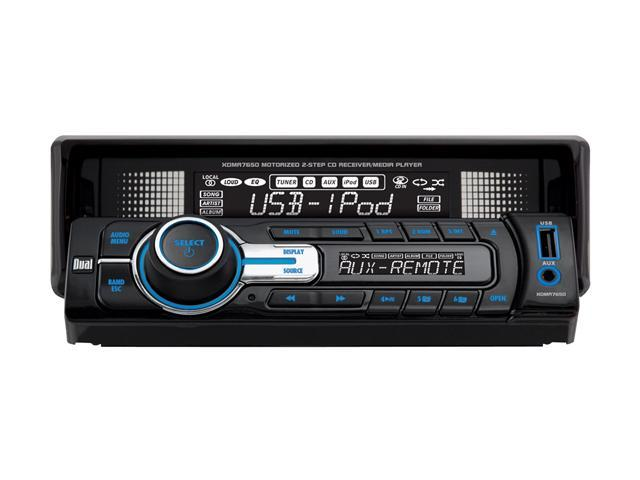 Dual In-Dash CD Receiver w/ USB & Motorized Front Panel