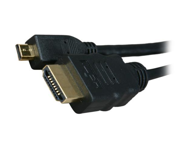 BYTECC HM-MICRO6K 6 ft. Black HDMI Male to HDMI micro Male HDMI Male to HDMI micro Male High Speed Cable with Ethernet M-M