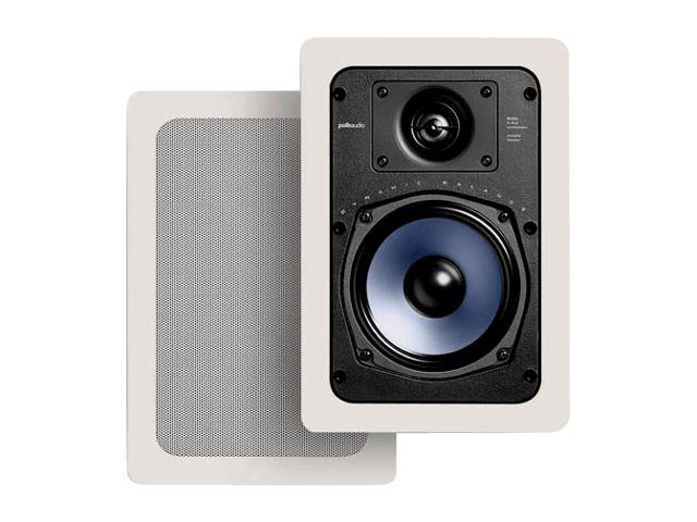 "Polk Audio RC55i White 5.5"" two-way rectangular in-wall loudspeaker Pair"
