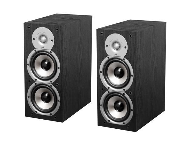 Polk Audio Monitor Series New Monitor 45B Two-Way Bookshelf Loudspeaker (Black) Pair
