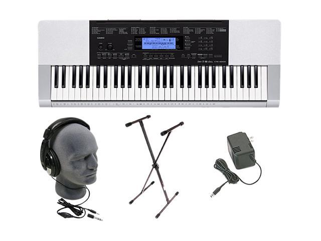Casio CTK-4200 61-Key Piano Style Touch Response Portable Keyboard Premium Pack