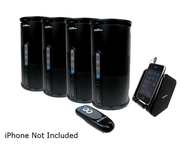 Audio Unlimited SPK-VELO-4KIT2 Premium 900MHz Wireless Indoor/Outdoor 4 Speakers System