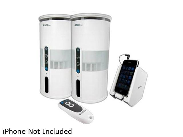 Audio Unlimited SPK-VELO-W3 900MHz Wireless Indoor/Outdoor White Speakers Pair