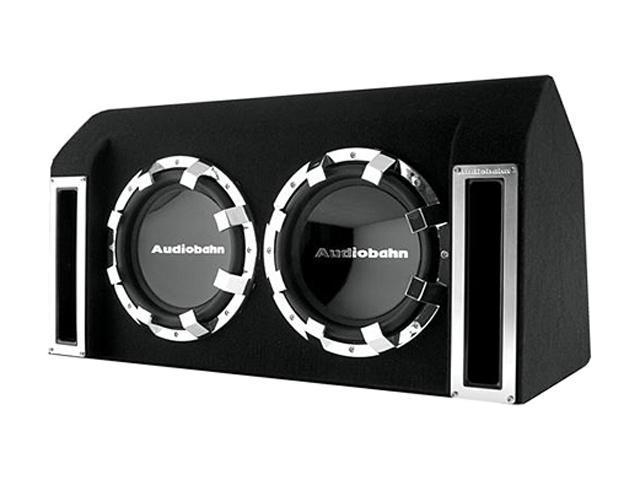 "AUDIOBAHN ABB122J Dual 12"" 1760W Enclosed Subwoofer"