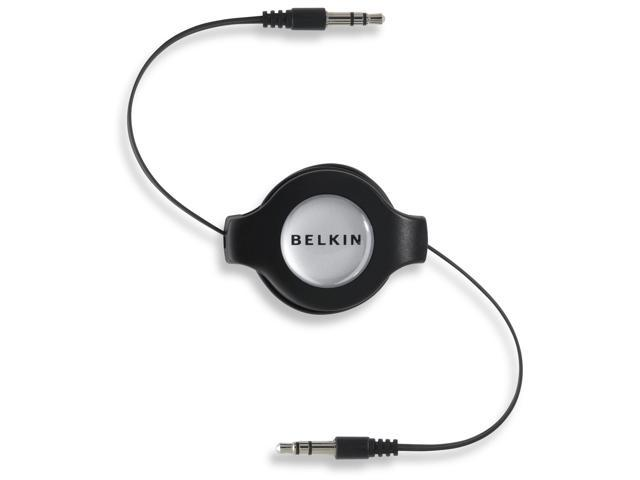 Belkin F3X1980-4.5-BLK 4.75 ft. Retractable Car-Stereo Cable for iPod and iPhone M-M