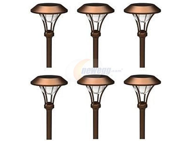 Malibu Lighting Corporation 8506-2120-06 6PC Celestial Solar Pathway Light