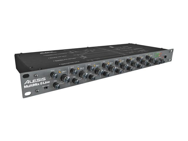 Alesis MultiMix 8 Line Eight-Channel Stereo Line Mixer