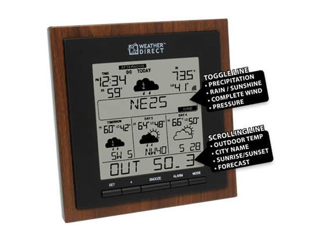 La Crosse Technology WD-3308U-WAL Weather Direct 4 Day Internet Powered Wireless Forecaster Brown/Black