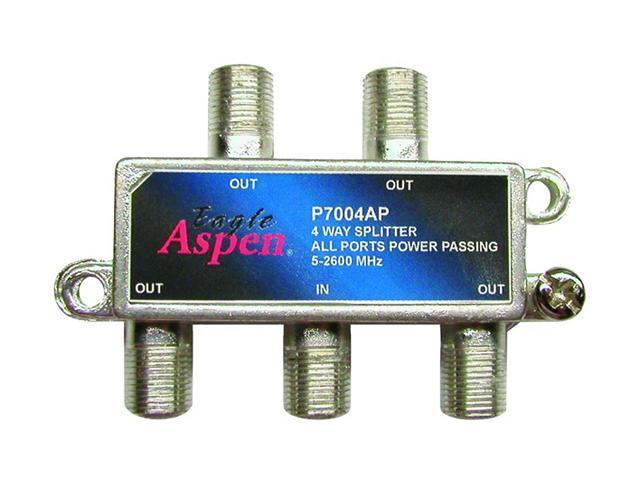 Eagle Aspen P7004AP 4-Way 2600 Mhz Splitter (all Port Passing)