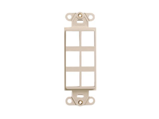 Leviton 41646-I QuickPort Decora Insert, 6-port