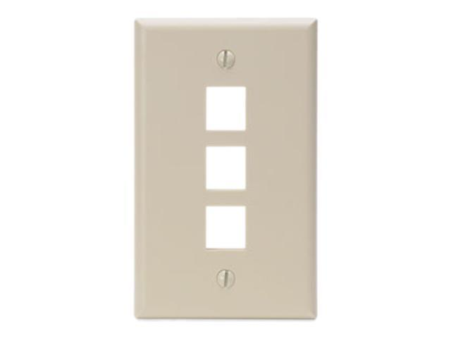 Leviton 41080-3IP QuickPort Single-Gang Multi-Port Wallplates