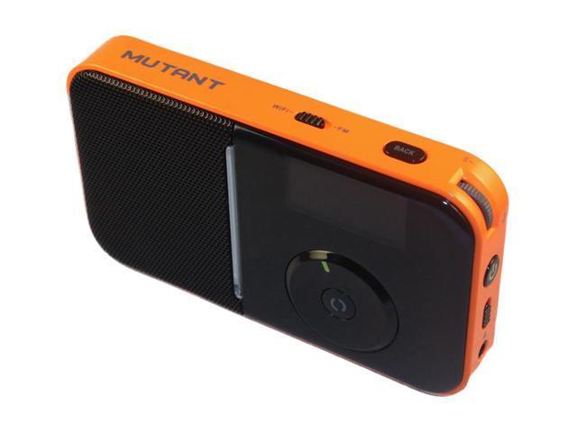 Mutant Portable Internet/FM Radio, Tangerine MIG-PIR-5