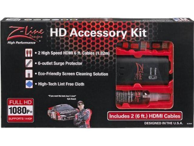 Z-Line Designs ZLK004 HD Accessory Kit with Two 6' HDMI Cables