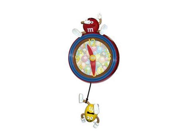 M&M Pendulum Wall Clock,Red M9WC1