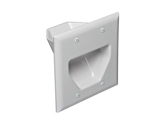 DataComm 45-0002-WH Cable Faceplate